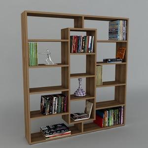 Biblioteczka Ample Walnut, 22x125x135,7 cm