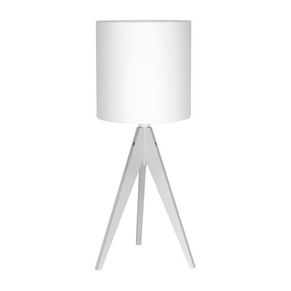Biała lampa stołowa 4room Artist, biała lakierowana brzoza, Ø 25 cm,