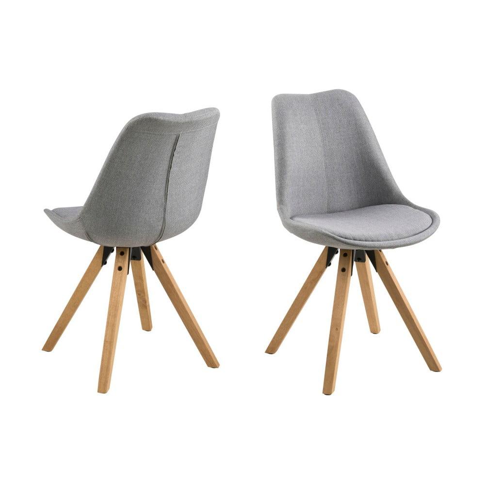 Zestaw 2 jasnoszarych krzeseł Actona Dima