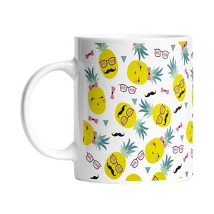 Kubek ceramiczny Mr and Mrs Pineapples, 330 ml