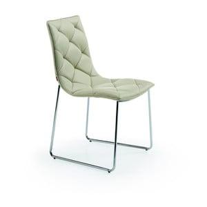 Krzesło w kolorze perłowym La Forma Baxter
