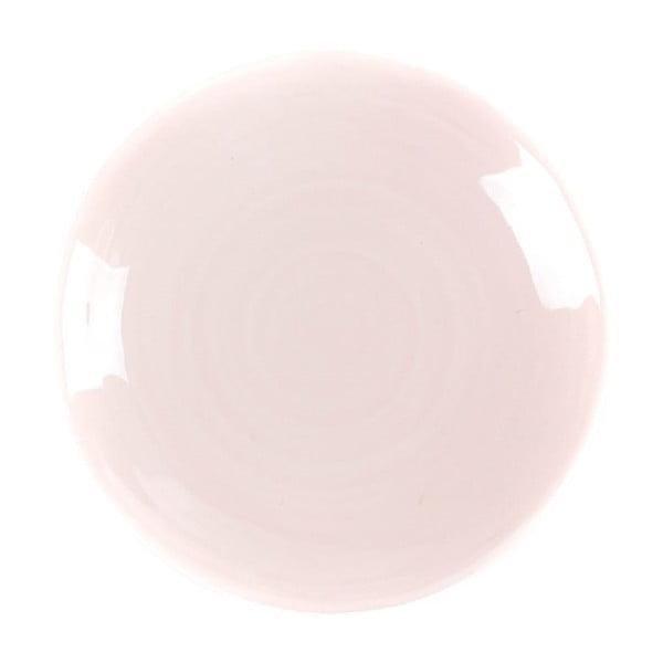 Talerzyk deserowy Earth 21 cm, różowy