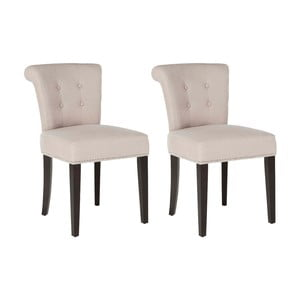 Zestaw 2 krzeseł Alice Ecru