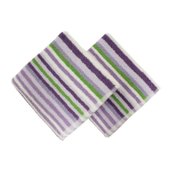 Zestaw 2 ręczników Cizgi Lilac, 40x80 cm