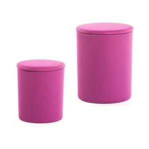 Zestaw 2 stołków The Drum Radiant Orchid
