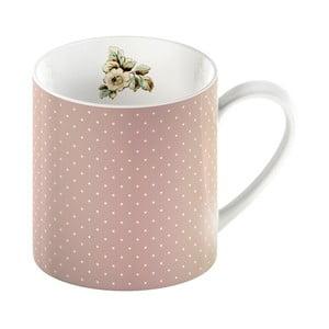 Różowy kubek porcelanowy w kropki Creative Tops Cottage Flower, 330ml