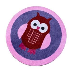 Fioletowy dywan dziecięcy Zala Living Owl, ⌀100cm