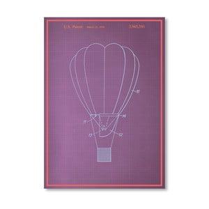 Plakat Hot Air Baloon, 30x42 cm