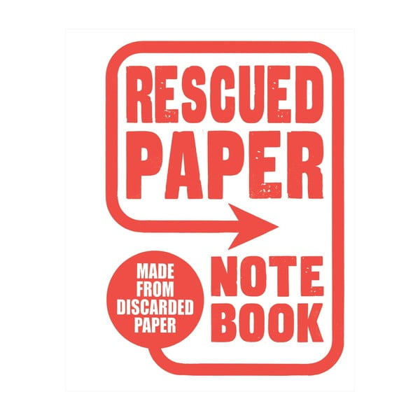 Notatnik Chronicle Books Rescued Paper Notebook, duży