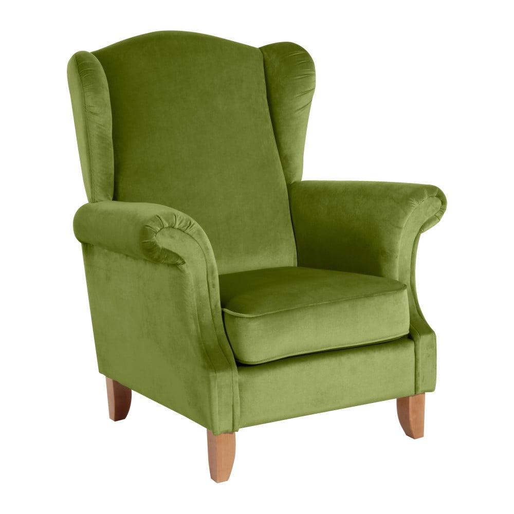 Zielony fotel Max Winzer Verita Velvet