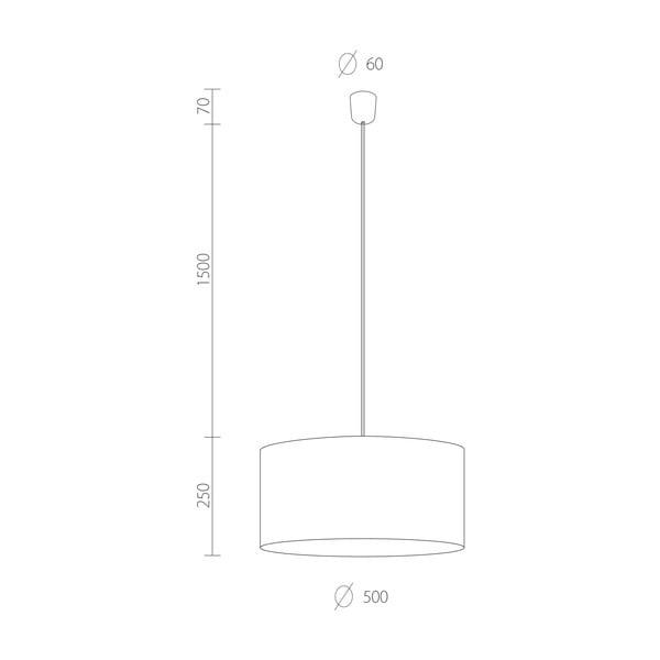 Czarna lampa wisząca Bulb Attack Tres, ⌀ 50cm