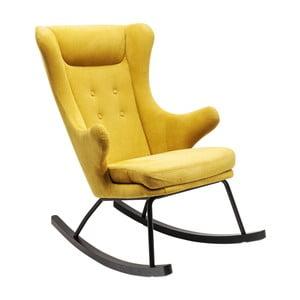Żółty fotel na biegunach Kare Design Oslo