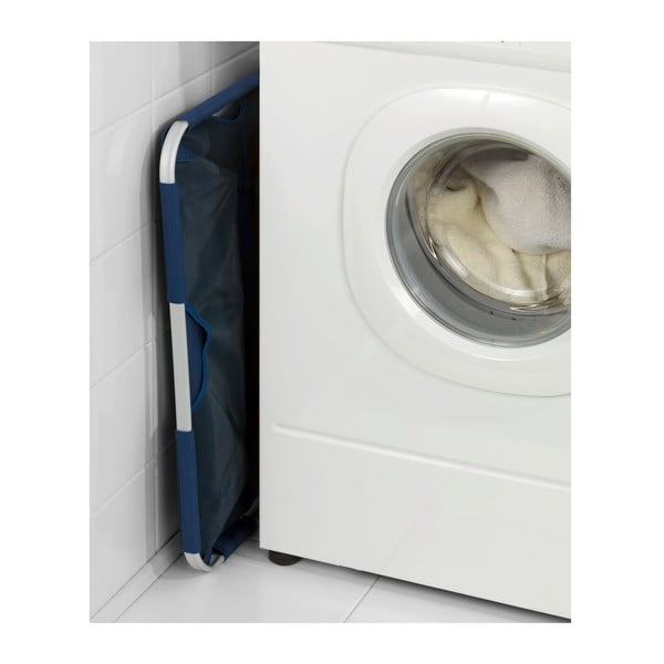 Składany kosz na pranie Solo, niebieski