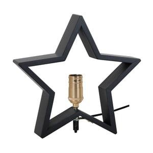 Czarna drewniana gwiazda świecąca Best Season Lysekil, 30x29 cm