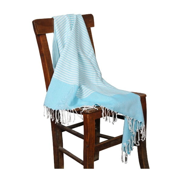 Ręcznik hammam Hermes Turquoise, 90x190 cm