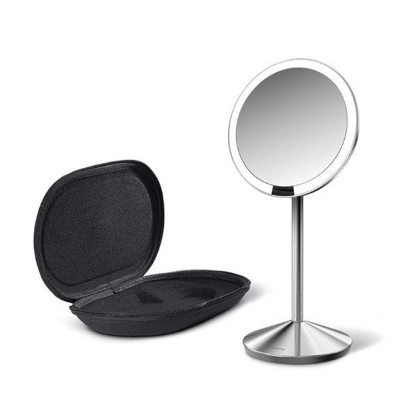 Kosmetyczne lusterko powiększające simplehuman Sensor, czarne