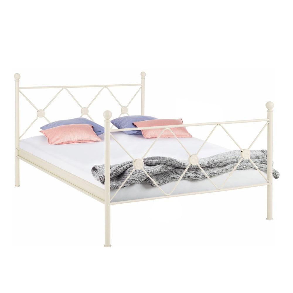 Białe łóżko Metalowe Støraa Johnson 140x200 Cm Bonami