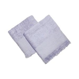 Zestaw 2 niebieskich ręczników Sehzade, 90x50 cm