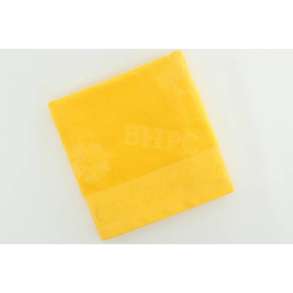 Ręcznik bawełniany BHPC Velvet 50x100 cm, żółty