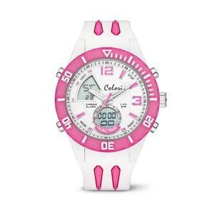 Zegarek Colori Anadigi 48 White Neon Pink