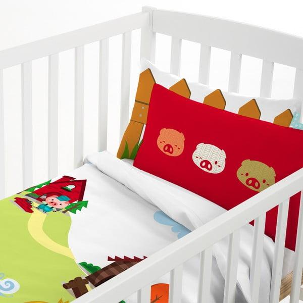 Bawełniana pościel dziecięca z poszewką na poduszkę Mr. Fox Little Pigs, 115x145 cm