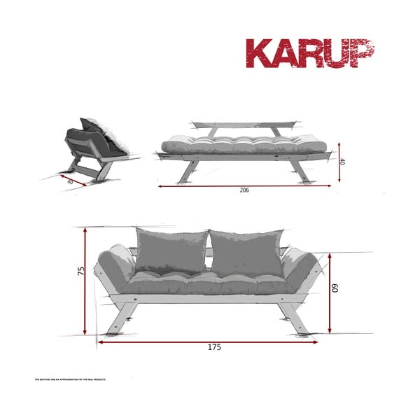 Sofa Karup Bebop Natural/Lime
