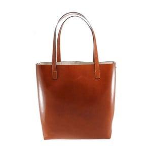 Brązowa torba skórzana Greta