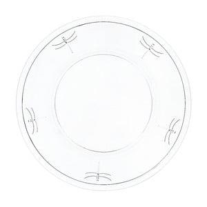 Talerz szklany La Rochère Libellules, 32 cm