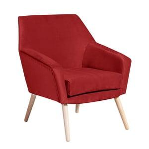 Ciemnoczerwony fotel Max Winzer Alegro Suede