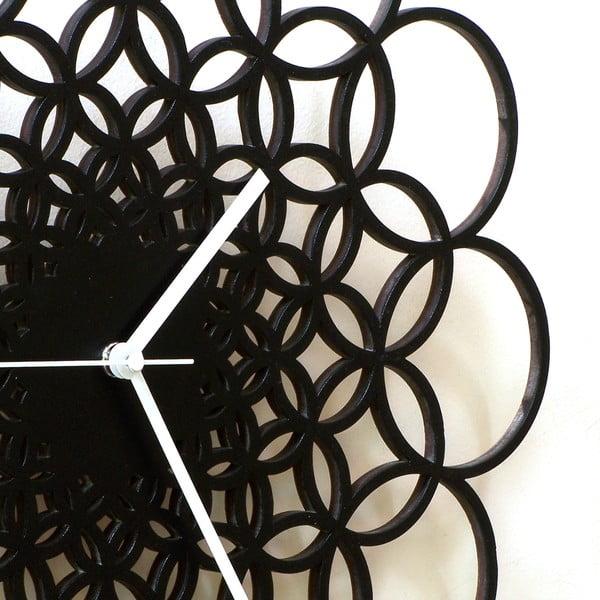 Zegar drewniany Rings, 41 cm