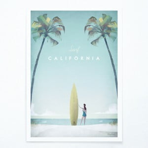 Plakat Travelposter California, A3