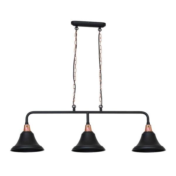 Czarna lampa wisząca Tubus Trio