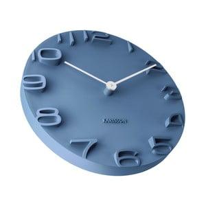 Niebieski zegar Karlsson On The Edge, Ø 42 cm