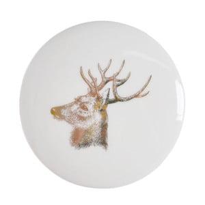 Biała ceramiczna szkatułka na biżuterię Ewax Deer, ⌀8cm