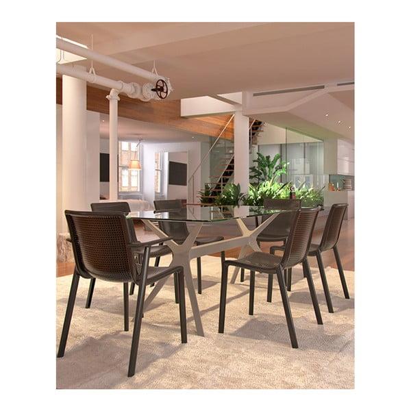 Zestaw 2 brązowych krzeseł ogrodowych Resol beekat