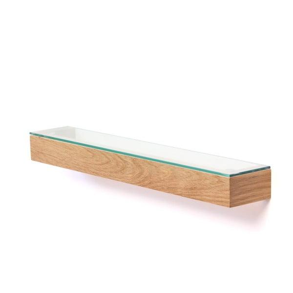 Półka ze szklanym blatem Mezza Wireworks, 55 cm