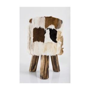 Skórzany stołek Kare Design Flint Stone, ⌀ 48 cm
