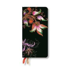 Organizer 2015 Floral Cascade Ebony 9x18 cm