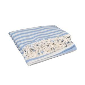 Jasnoniebieski ręcznik hammam Akasya Light Blue, 90x190cm