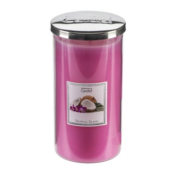 Świeczka zapachowa Copenhagen Candles Tropical Island Talll, czas palenia 70 godz.