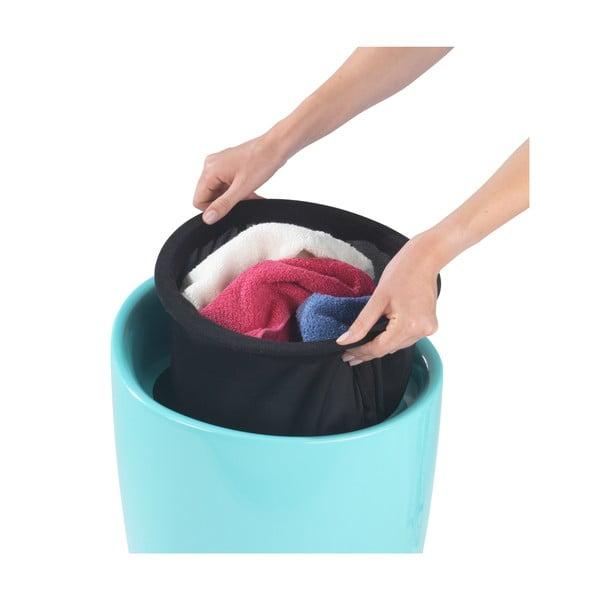 Turkusowy kosz na pranie itaboret wjednym Wenko Candy