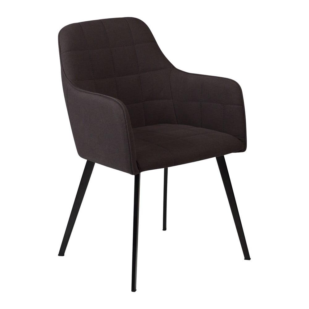Czarne krzesło z podłokietnikami DAN–FORM Denmark Embrace