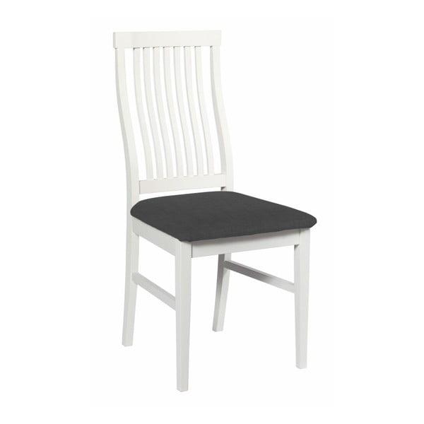 Zestaw 2 białych krzeseł z szarym obiciem Folke Kansas