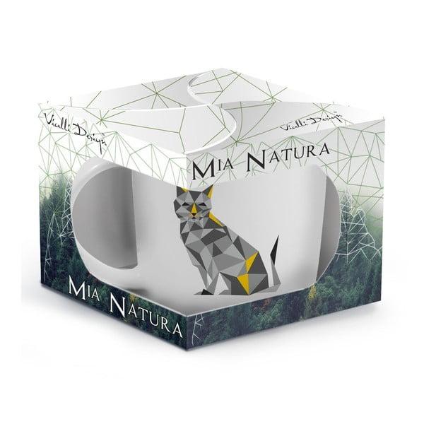 Kubek z porcelany kostnej Vialli Design Wild Cat, 370 ml