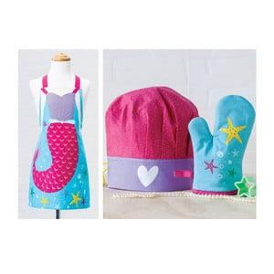 Zestaw dziecięcy: fartuch, czepek, rękawica kuchenna Stella
