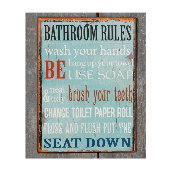 Tabliczka Bath Rules