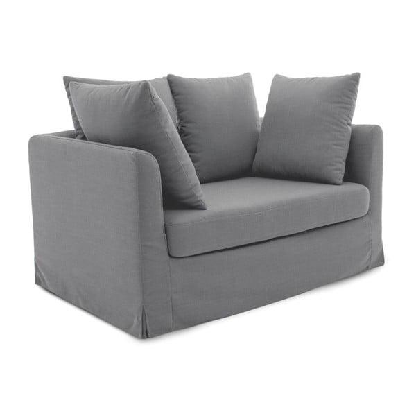 Jasnoszara sofa trzyosobowa Vivonita Coraly