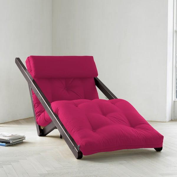 Szezlong Karup Figo, Wenge/Pink, 70 cm