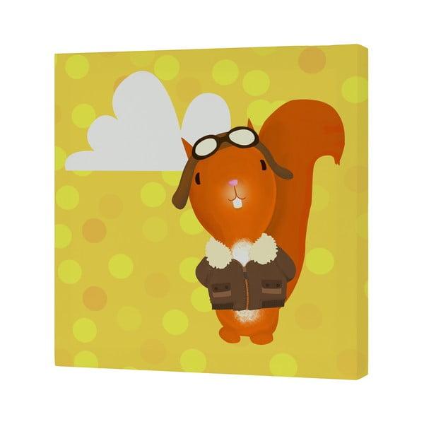 Obrazek Ballon Ride Squirrel, 27x27 cm