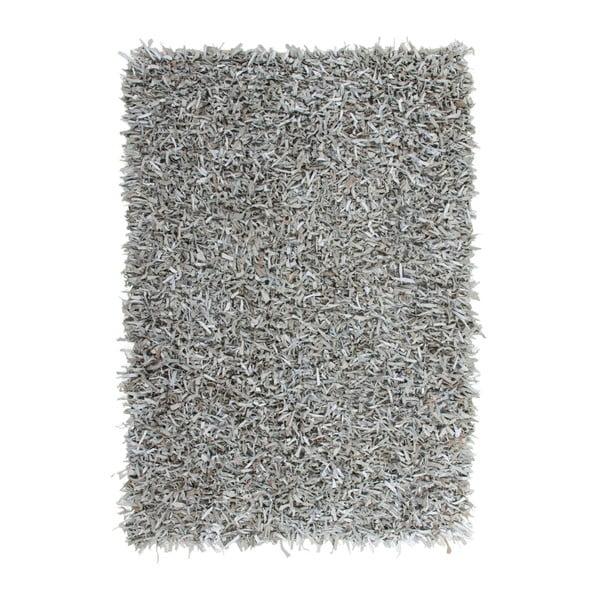 Szary skórzany dywan Rodeo, 160x230cm